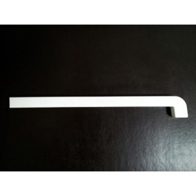 Capac PVC Alb pentru Glaful de aluminiu - stanga