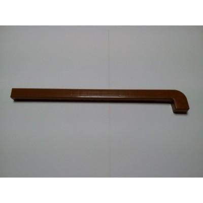 Capac PVC Maro pentru Glaf de aluminiu - stanga