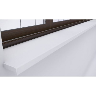 Glaf PVC de exterior ALB 8mm grosime - 18 CM