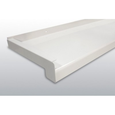 GLAF de Aluminiu Alb pentru exterior 2mm grosime - 26 cm