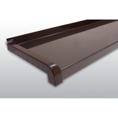 GLAF de Aluminiu Maro RAL8019 pentru exterior 2mm grosime - 28 cm