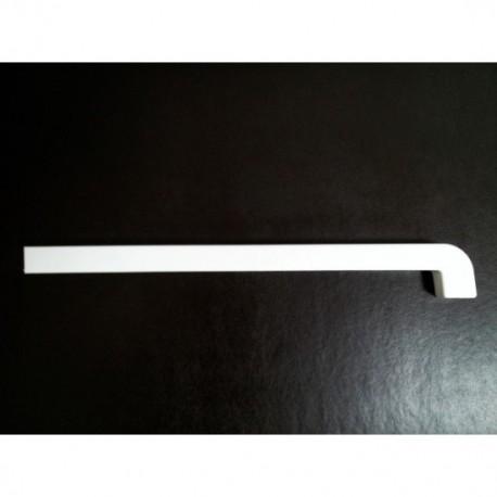 Capac PVC Alb pentru Glaful de aluminiu - dreapta