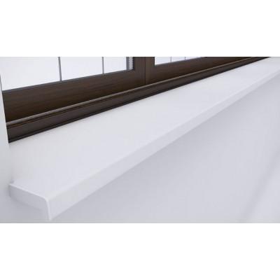 Glaf PVC de exterior ALB 8mm grosime -  25 CM